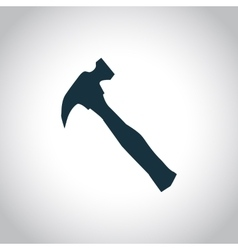 Hammer black icon vector image