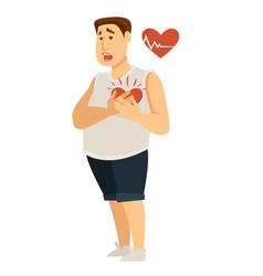 heart disease and obesity cardiac arrest vector image