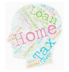 Home loan with tax benefits text background vector