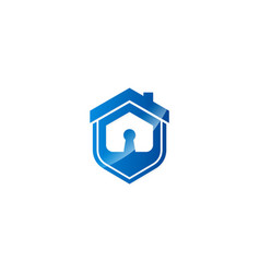 house icon secure logo vector image