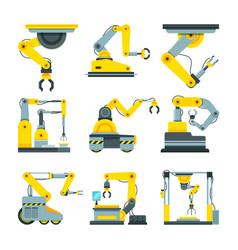 Industrial mechanical hands pictures vector