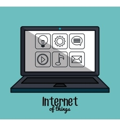 Internet of things flat icons vector
