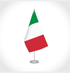 italy flag on white background vector image