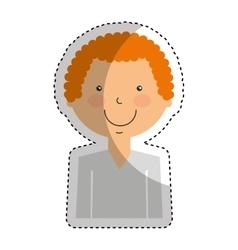 karateka avatar character icon vector image