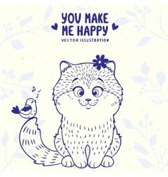 kitten cute vector image