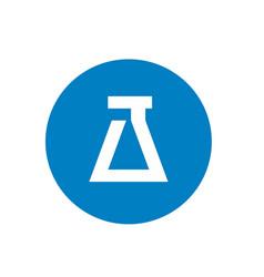 lab circle icon logo vector image