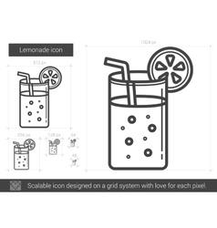 Lemonade line icon vector image
