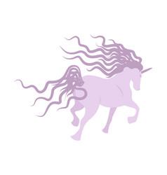 lilac unicorn image vector image