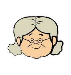 Lovely grandmother old woman imag vector
