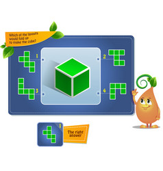 Make the cube puzzle vector
