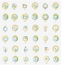 Minimal thin line design web icon set stamps vector