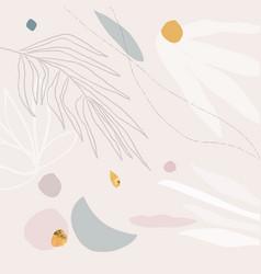 modern abstract shape art artistic pattern vector image