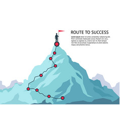 Mountain journey path route challenge infographic vector