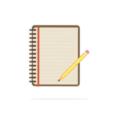 notebook and pencil icon concept vector image