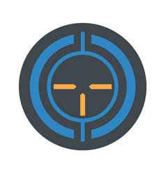 Old sniper aim icon flat style vector