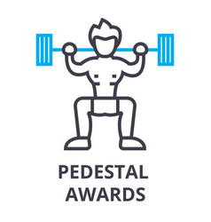 pedestal awards thin line icon sign symbol vector image