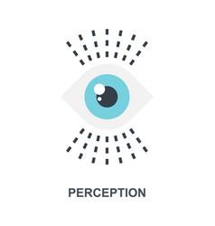 Perception icon concept vector