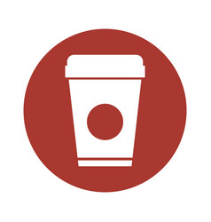 plastic cup isolated icon vector image