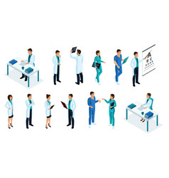 Qualitative isometry a set of medical staff vector