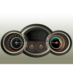 Realistic 3D dashboard vector