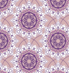 seamless round pattern vector image