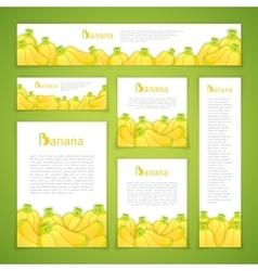 Set of Banan Banners vector