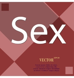 sex icon symbol Flat modern web design with long vector image
