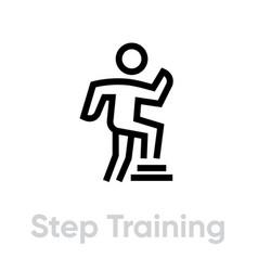 Step training activity icon vector