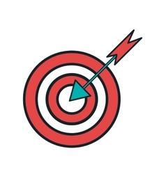 target idea think creativity design vector image