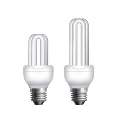 two fluorescent lamps vector image