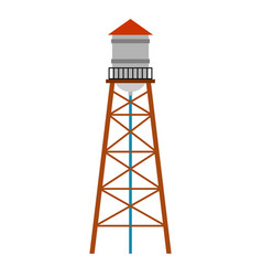 Water tower isolated water-bearing tower vector