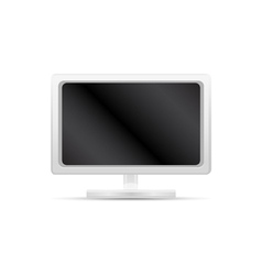 white computer monitor vector image