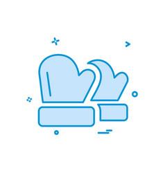 winter gloves icon design vector image