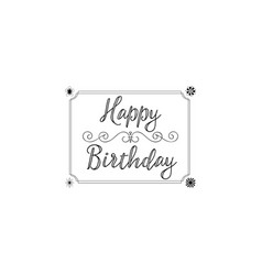 badge as part of the design - happy birthday vector image vector image