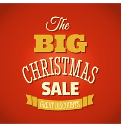 Christmas sale 2013 retro style poster design vector image vector image