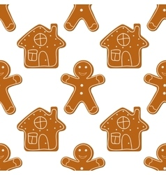 Gingerbread Cookies seamless vector image vector image