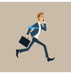 Office Worker Running Late vector image