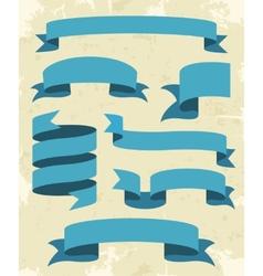 Set Of Vintage Ribbons Background vector image vector image