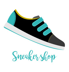 shoes with text sneaker shop vector image