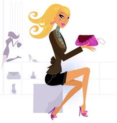 woman shopping vector image vector image