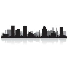 Baltimore USA city skyline silhouette vector image