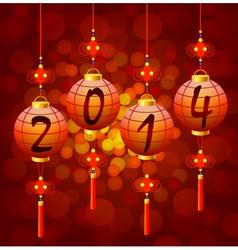 Chinese New Year lanterns vector image