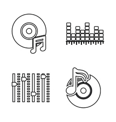 DJ electronic music party vector image