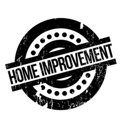 home improvement rubber stamp vector image