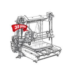 Plastic 3d printer vector