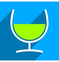 Remedy Glass Flat Square Icon with Long Shadow vector image vector image