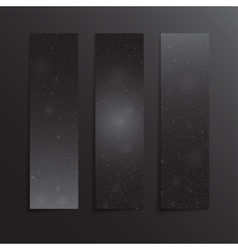 Vertical Rectangle Black Banners Snow Winter vector image