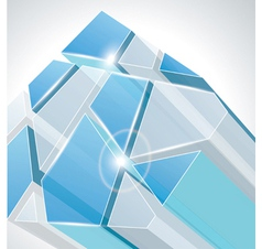 3d glass vector image vector image