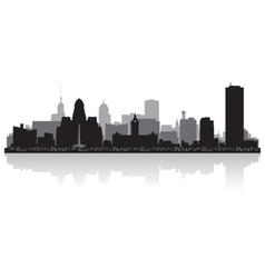 Buffalo USA city skyline silhouette vector image