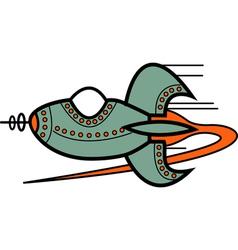 Cartoon retro spaceship vector image vector image